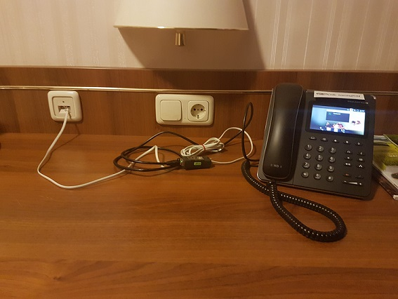 Where are you hidden, hotel access point ?!: Network equipment in the room