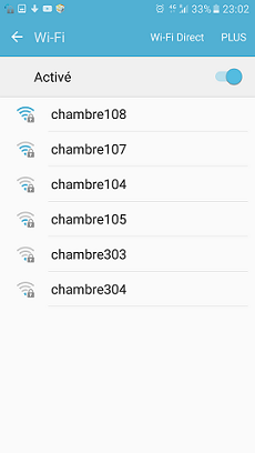 Where are you hidden, hotel access point ?!: WiFI networks list (2)